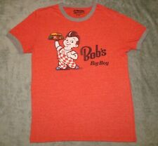 BOBS BIG BOY AMERICAN ROAD TRIP T SHIRT RINGER RED MENS MEDIUM SOFT DINER TEE