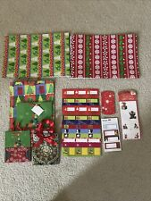 Lot of Christmas wrapping supplies - boxes, bags, tags - New
