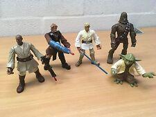 "Star Wars Force Battlers 7"" figures X5 Bundle Lot rares Jedi Force"