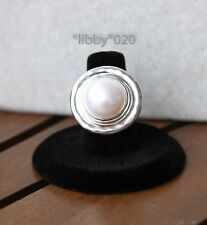 Silpada Pure Romance Pearl Ring sz 6 New Sterling Silver Statement Jewelry Gift