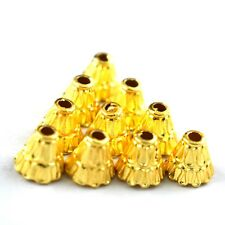 25pc Solid Metal Cap Shape Connector Charm 24k Gold Plated Copper Beads  Jewelry