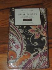 1 POTTERY BARN TRIPP PAISLEY DOUBLE SHAM KING 20 X 70 PURPLE PINK ORANGE GREEN