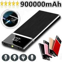 900000mAh Ultra-thin Power Bank Portable External Battery High Capacity Charger