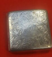 Antique solid silver cigarette case 1911 henry Williams ltd lovely condition
