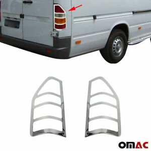 Fits Dodge Sprinter W901 1995-2006 Chrome Brake Light Frame Trim 2Pc. S.Steel
