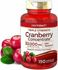 Horbaach Cranberry (30,000 mg) + Vitamin C 150 Capsules | Triple Strength