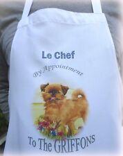 More details for griffon bruxellois dog  apron design kitchen accessory sandra coen artist print