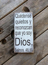 Spanish wood sign. Quedense quietos y reconozcan… Rustic farmhouse wood sign.