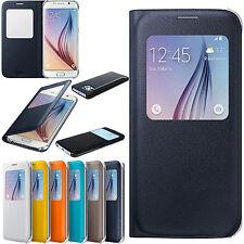 Nuevo S-view Slim Flip Funda Batería cubierta Trasera Para Samsung Galaxy S6 sm-g920