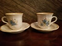 Vintage Mikasa Garden Club Day Dreams EC 461 PAIR of  Cups w Saucers NICE!