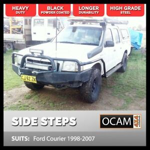 OCAM Steel Side Steps & Brush Bars for Ford Courier 1998-2007 Dual Cab