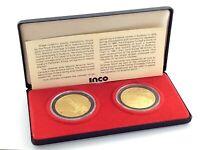 Gold Plated Inco Set Canada Sudbury Ontario Science North Token Medallions M164