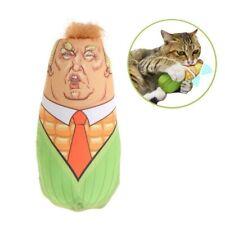 Funny Cat Toys Trump Stuffed Plush Corn Pet Interactive Teaser Catnip Squeaky