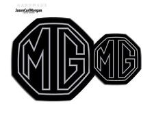 MG ZR MK2 Badge Inserts Front Rear Boot Badges 59mm/95mm Silver Stroke Black
