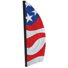America Flag Style Pattern (USA) in a Feather Banner Style 8.5 ft Tall PR 23865