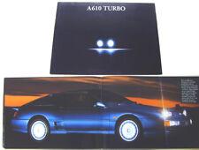 Renault Alpine A610 Turbo 1992-95 Prestige UK Brochure