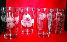 The Walking Dead glasses,Set of 4 Glasses,ps3 video game,TV Series, Zombie,
