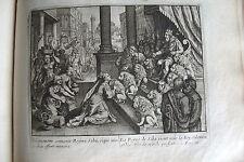 C21-97 Gravure religieuse 17e la reine de Saba vient voir le roy Salomon (Roys10