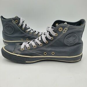 Converse All Star Chuck Taylor Shoes European Size 8.5 Black Leather 1J854