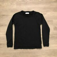 Everlane Womens Black Crewneck Sweater Cotton Lightweight Size Extra Petite XS