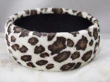 Leopard Animal Spots Fur Bangle Bracelet Fun Fashion Jewelry NEW