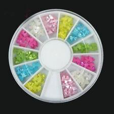 Nail Art Pearl Butterfly Ribbon Mix Colors Bow Tie Wheel DIY Nail Decoration