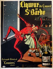 FRENCH LIQUOR, 1910 Vintage Advertising Poster Giclee Canvas Print 20X26