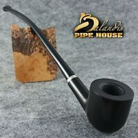 BALANDIS Original Handmade Tobacco SMOKING PIPE - 11 CHURCHWARDEN - WIZARD BLACK