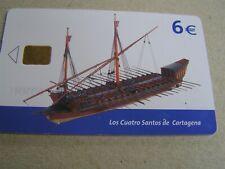 Spain used chipcard  Boat, Los Cuatro Santos de Cartagena