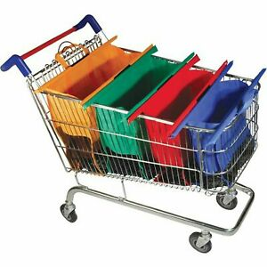 BergHOFF Trolley Bags Shopping Cart Organizer 4 Reusable Grocery Totes, NEW
