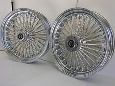 "DNA MAMMOTH 52 FAT SPOKE 18"" CHROME WHEEL SET 2000-2007 TOURING FLH/T/R/X HARLEY"