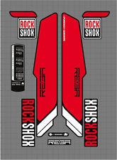 ROCK SHOX REBA FORK / SUSPENSION DECAL SET