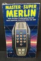 Vintage Master Merlin 1982 Handheld Electronic Game Parker Brothers + Box