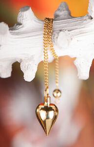 Pendel Tropfenpendel Messing vergoldet