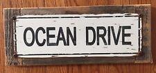 Ocean Drive South Beach Miami Florida Duke Dumont Art Deco Vintage Metal Sign