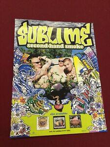Rare Sublime Promo Poster Second Hand Smoke 24 X 18