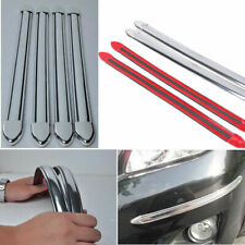 Front Rear Bumper Corner Guard Edge Protector Strips Silver For Ford Toyota HR08