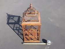 "VINTAGE Victorian Style UNIQUE Bent Wood Wooden Bird Cage, 12"" X 12"" X 28"""