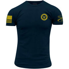 Тяжелую стиль USN-темно-синий цвета футболка-темно-синий