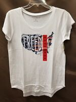 NEW Lucky Brand Women Cut Sleeve Freedom T-Shirt Decorated Tee Various Sizes