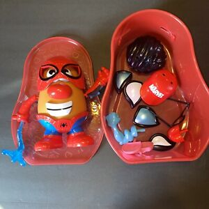 Marvel Spiderman Peter Parker Mr. Potato Head With  Carrying Case