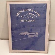 Historic Mountainview Farm Restaurant Friendsville Tennessee Menu, Closed In 80s