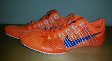New Nike Zoom Victory 2 Track and field Spikes Men's size 12.5 Orange Blue