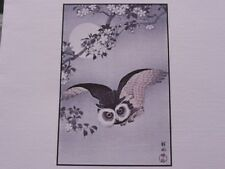 OWL WITH FULL MOON, ORIENTAL, JAPANESE Counted Cross Stitch PATTERN
