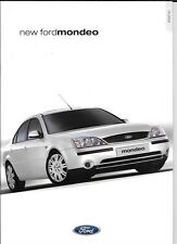 FORD MONDEO LX,ZETEC,ZETEC S, GHIA AND GHIA X SALE BROCHURE SEPT  2000 FOR 2001