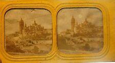 """8 vues stéréoscopiques - """"   transparentes"""" - 8,5 x 17 cm-1885/90 - nuit et jour"""