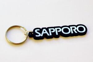 Mitsubishi Sapporo Keyring - Brushed Chrome Effect Classic Car Keytag / Keyfob