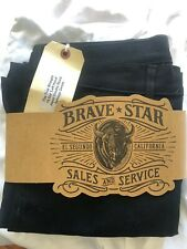 NWT Brave Star Selvage True Straight 16.5oz 'Left Hand' Double Black Japan Denim