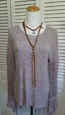 Lucky Brand Tie Long Sleeve Pullover Sweater Med NWT