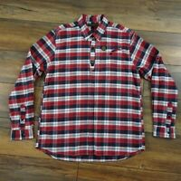 "Nicholas Deakins Size L 42"" Red Blue White Check Long Sleeve Cotton Shirt Mens"